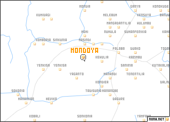 map of Mondoya