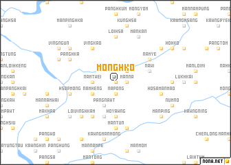 map of Möng Hko