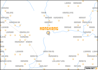 map of Möng Kang
