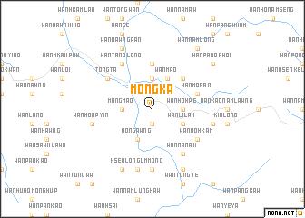 map of Möng Ka
