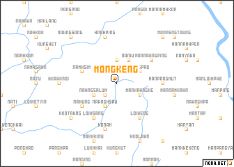 map of Möng Keng