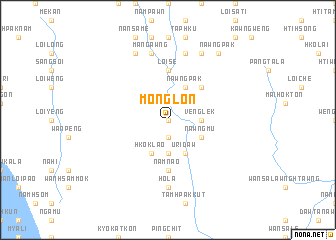 map of Monglon