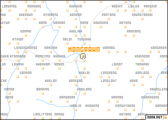 map of Möng Pawn