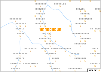 map of Möng Pu-awn