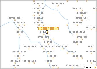 map of Möng Pu-awn