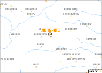 map of Möng Wing