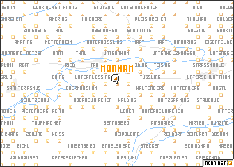 map of Monham