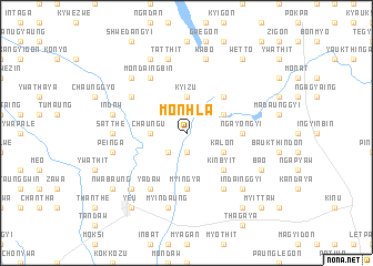 map of Monhla