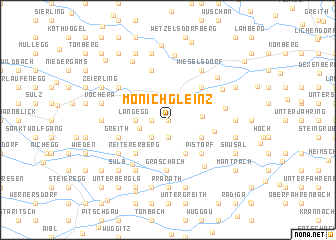 map of Mönichgleinz