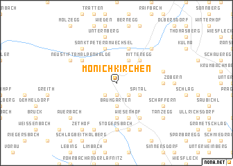 map of Mönichkirchen