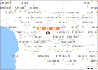 map of Monókhoron