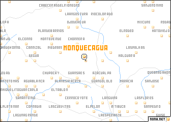 map of Monquecagua