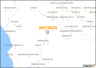 map of Montagna
