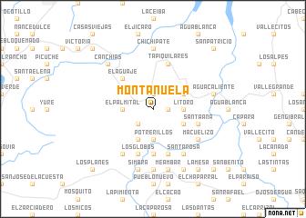 map of Montañuela