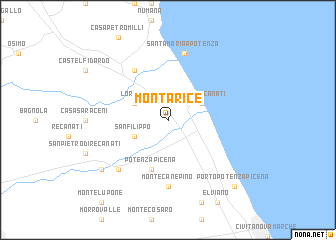 map of Montarice
