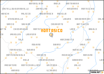 map of Montasico