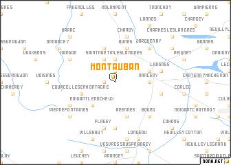 Montauban France map nonanet