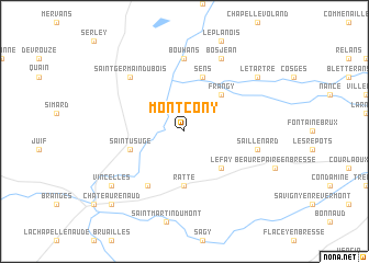 map of Montcony