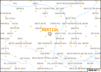 map of Montcul