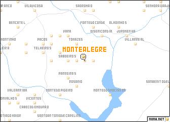 monte alegre portugal mapa Monte Alegre (Portugal) map   nona.net monte alegre portugal mapa
