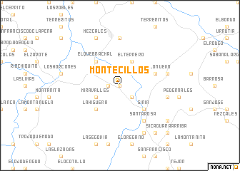 map of Montecillos