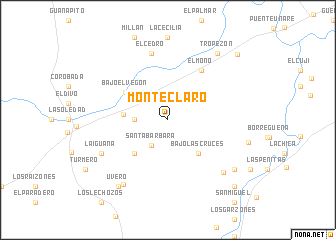 map of Monte Claro
