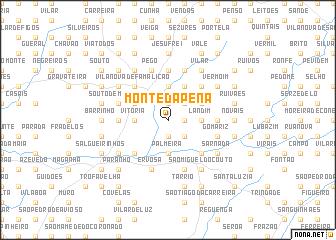 map of Monte da Pena