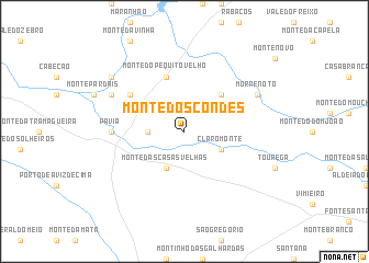 map of Monte dos Condes