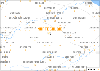 map of Montegaudio