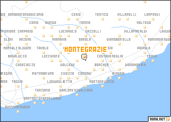 map of Montegrazie