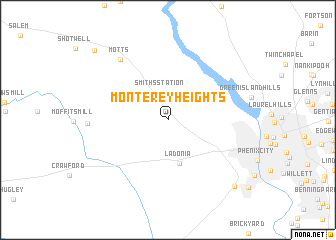 map of Monterey Heights