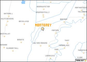 map of Monterey