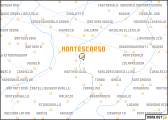 map of Montescarso