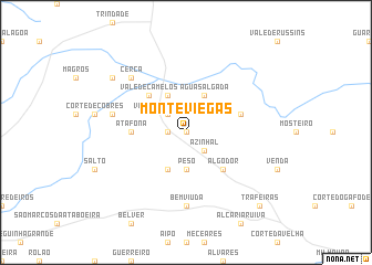 map of Monte Viegas