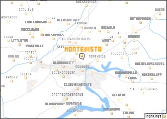 map of Monte Vista