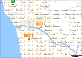 map of Monte