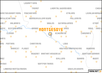 map of Montgesoye