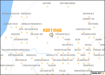 map of Montinho