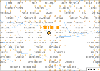 map of Montiquín