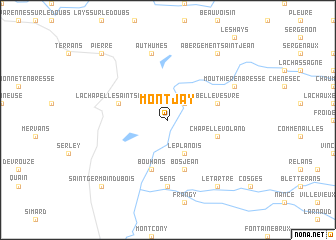 map of Montjay