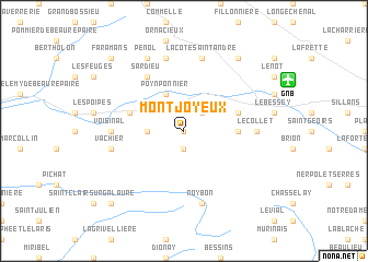 map of Mont Joyeux