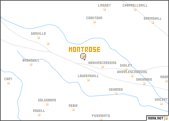 map of Montrose
