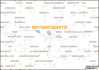 Map Of Saint Quentin France.Mont Saint Quentin France Map Nona Net
