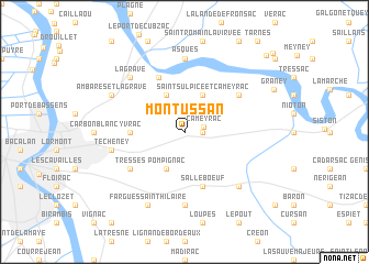map of Montussan