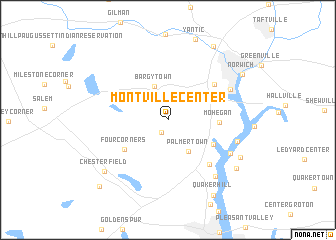 map of Montville Center