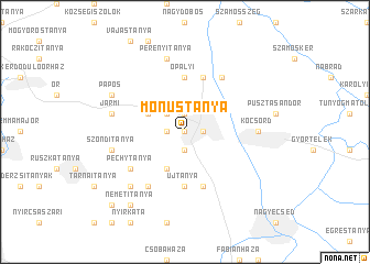 map of Mónustanya