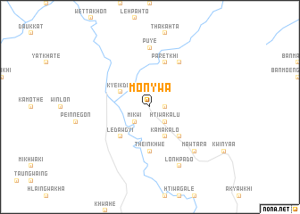 map of Mon-ywa