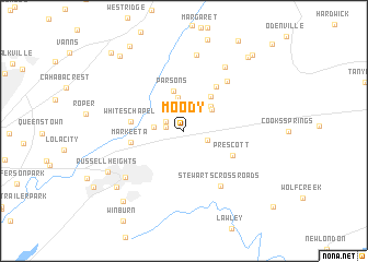 map of Moody