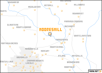 map of Moores Mill