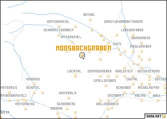 map of Moosbachgraben